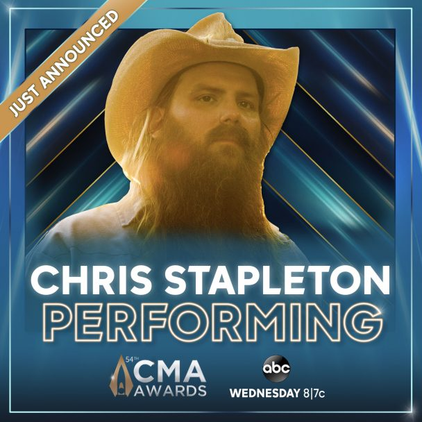 Chris Stapleton To Perform at 54th Annual CMA Awards