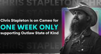 Image for CHRIS STAPLETON JOINS CAMEO IN SUPPORT OF OUTLAW STATE OF KIND